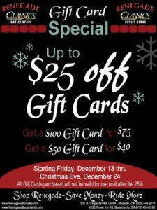 Renegade Christmas discount card