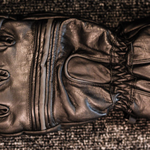 Leather gauntlets