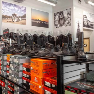 Motorcycle boots and shoes: many different models