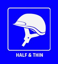 Half & thin helmets